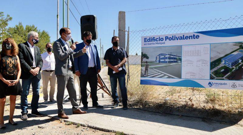 Presentaron el proyecto del Edificio Polivalente en el barrio Melipal