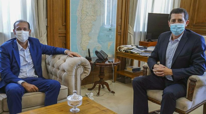Gutiérrez se reunió en Buenos Aires con el ministro del Interior