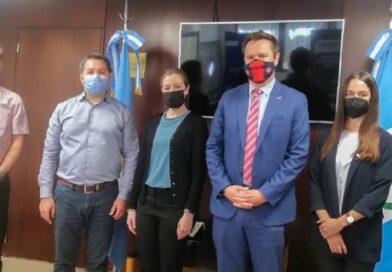 El ministro Monteiro se reunió con diplomáticos de la Embajada de los Estados Unidos